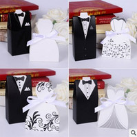 Wholesale West Style Bride Bridegroom Wedding Suppliers Sweetbox New Fashion the bride and the bridegroom Candy Boxes