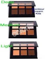Wholesale Makeup Contour Cream Kits Bronzers And Highlighters Colors Cream Palette Light Medium Deep