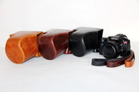Wholesale NEW Camera Leather case bag cover for Leica V LUX TYP Camera with shoulder strap black brown coffee
