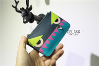 Wholesale Little Monster leather coin purse bag zipper card bags key cases