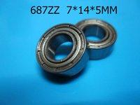 687ZZ ABEC-5 cojinetes 10pcs del sello del metal que envían libremente 687 687Z 687ZZ 7 * 14 * 5m m cojín profundo del surco del acero del cromo