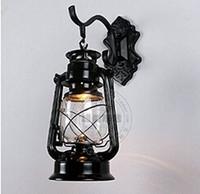 barn oil - Lighting Vintage Edison Barn Lantern Iron Kerosene Lamp Oil Light Wall Aisle Black Color Industrial