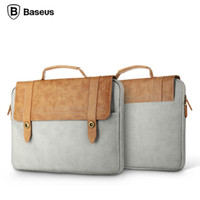 Wholesale Baseus High Quality Leather Laptop Case British Series Drop Resistant Laptop Bag Inches Portable Leather Notebook Bag
