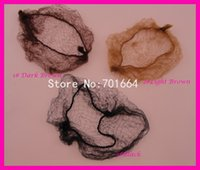 Wholesale 100PCS Children size about cm Colored Hiding Hairnet for holding ponytails Bunhead hair styles net wigs Cap with elastic