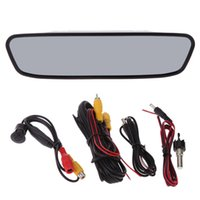 Wholesale Universal quot Auto Car Rear View Mirror Monitor Car Reversing Kit CCD Back Up Camera