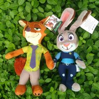 baby toys rabbit - Zootopia Plush Toys Movie Cartoon Zootopia Nick Wilde and Judy Hopps Fox Rabbit Stuffed Plush Dolls Toys CM CM Baby Gift