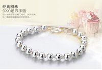 Cheap XGG sterling silver bracelet with round pearl 990 silver silver bead transport bead bracelet adorn article collocation ACTS the role of fema