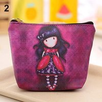 american mini storage - New Mini Stylish Cartoon Girl Canvas Coin Purse Key Wallet Storage Bag Children kids money bag for party Christmas gift
