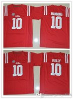 Wholesale 2016 New Style College Ole Miss Rebels Jerseys Chad Kelly Jersey Red Stitched NCAA College Football Jerseys