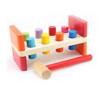 benches baby - Perfect Quality Wooden Pounding Bench With Hammer Kids Baby Preschool Activity Toys