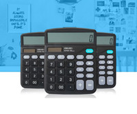 Wholesale 2016 Large Buttons Dual Power Solar Battery Powered Desktop Desk Digit Calculator