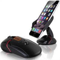 Wholesale mobile Universal Creative Dashboard Car Phone Stand Holder One Touch Mouse Suction Cup Cradle For Huawei P7 P8 P9 s7 edge i6s plus
