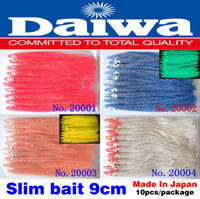 Wholesale 100pcs color slim bait cm noctilucent red blue orange squid soft bait lure dry fly Daiwa JAPAN fishing tackle