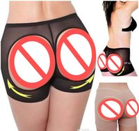 Wholesale Ladies Butt Lifter Shaper Control Panties Sexy Buttocks Enhancer Panty Boyshort Tummy Undies Bottom SHAPEWEAR Plus Size S XXXL Shapers panty