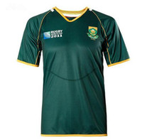 Wholesale South Africa Rugby Jersey Springboks Men Home Pro M XL Jersey LOGO Printed Size M L XL XL XL