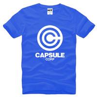 ball corp - 2016 Summer Dragon Ball Z Capsule T Shirt Men Short Sleeve Cotton Capsule Corp Printed Male T Shirt Cartoon Men Clothing Tops Tees Big Size