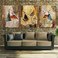 Wholesale Unframed Panel Handpainted Ballet Dancer Abstract Modern Wall Art Picture Home Decor Oil Painting On Canvas For Bedroom