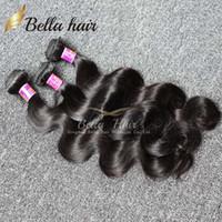 Wholesale Brazilian Body Wave Virgin Human Hair Weaves Bundle Hair Extensions Cuticle Human Hair Returned Accepted Bellahair DHL A