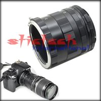 Wholesale by dhl or ems pieces Lens Adapter Macro Extension Tube Ring For CANON EOS EF DSLR SLR