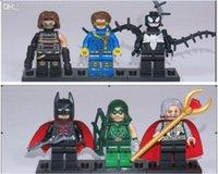 Wholesale Nice New Super Hero toys Figure Batman toys Venom Action Figures The Avengers Toys building blocks Laser eye Odin DIY Children
