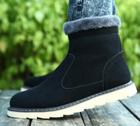 best mens wear - best selling Winter Men Shoes For Fashion Genuine Leather Thicken Keep Wear Snow Boots Mens Casual Martin Boots BC896 Retail