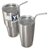 Wholesale 304 stainless steel straw with screw thread for oz oz yeti stainlsess steel up stainless steel yeti cup drinking straw