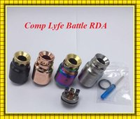 battle vs - Newest CompLyfe battle Rda the Battle caps deck brass copper engraved logo gold av top cap rda accessory VS VINYBYSJ RDA Moonshot RTA
