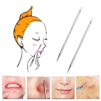 Wholesale Stainless Blackhead Comedone Acne Pimple Blemish Extractor Remover Needle New JTW_19