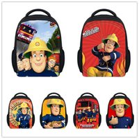 ball fireman - 12 inch Small Children School Bags Fireman Sam Book Bags For Boys Fashion Cartoon Kindergarten Dragon ball Z Schoolbag Mochila