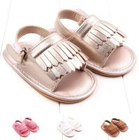Wholesale Fashion Baby Casual Sandals for Boys Girls Tassel Summer Shoes Classic Infant Toddler Non Slip Sandals Shoes S1014