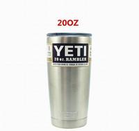 Wholesale YETI Stainless Steel Colors oz YETI Tumbler Rambler Cups Yeti Coolers Cup Sports Mugs Large Capacity Stainless Steel Travel Mug