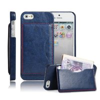 abs support - Card Pocket Leather cover Case support standholder For Apple Iphone c plus plus