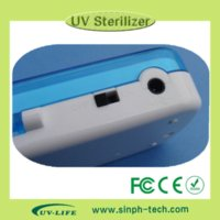 Wholesale 2014 New UV Toothbrush Sanitizer Sterilizer Holder Cleaner Bathroom Box with FCC CE RoHS and lab test report