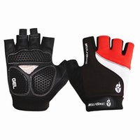 Wholesale WOLFBIKE Brand Non slip Short Gloves Mitten Road MTB Motorcycle Cycling Bike Bicycle Racing Riding Breathable Half Finger Glove High Quality