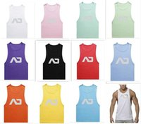 ad tanks - 100pcs MenTank Top Sport Sleeveless AD Brand Gasp Casual tank men s gym vest sport comfortable fabric casual tank D773