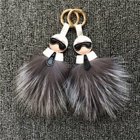 ball boy shoes - 2016 hot fox Fur Ball Monster bag keychain Paste for phone case iphone s shoes bags fur cap accessories