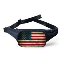 belt bag uk - Designer Women Men Canvas Sport Running Belt Bum Waist Pouch UK USA Flag Printing Hip Fanny Pack Camping Sport Money Phone Bag