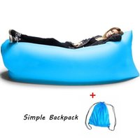 Wholesale Sleeping Bag Fast Inflatable Sofa Outdoor Pads Air Lounger Sofa Couch Portable Furniture for Beach Camping and Festival Relaxation