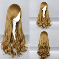 animations textures - Beautiful BROWN Lolita Long Wavy Animation Full Wig Long Brown wig curly WIG402A