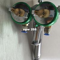 air compressor head - SAT1189 dual head spray gun paint spray gun air compressor silver mirror chrome spray gun hvlp