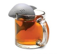 Wholesale Slimming Tea Infuser Silicone Tea Strainers Shark Shape Strainer infuser Empty Tea Bags Leaf Diffuser tea infuseres tea ball Accessories