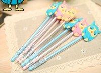 Wholesale Kawaii Cartoon Owl Pen Gel Ink Pen Stationery Multi Styles Random Delivery