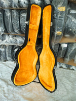 Wholesale ST guitars hardcase Top quality New style Black color and inside is the Golden Guitar Box
