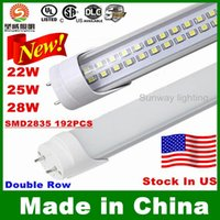 replacement led lights - Stock In US ft Led T8 Tubes Single Doubles Sides CREE W W W W Led Light Tubes Replacement Regular Tubes AC V