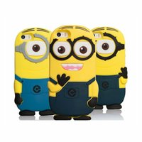 animation covers - 3D Cute Animation Cartoon Soft Rubber Silicone Despicable Me Minions Case Cover for iPhone S Plus Outer Cases Gel Shell
