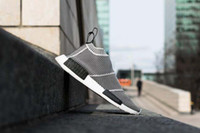art on canvas - 2016 New High Quality City Sock NMD PK Fashion Grey White Outdoor Sports Casual shoes size