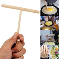 Wholesale T Shape Crepe Maker Practial Pancake Batter Wooden Spreader