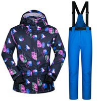 Wholesale Ski Suit Women Outdoor Wear Snowboard Ski Jacket Pants Outdoor Wear Windproof Waterproof Skiing Riding Camping Female Set