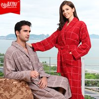 bathrobe toweled - Hilift cotton bathrobes toweled lovers cotton bathrobe thickening robe