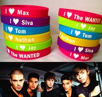 band wanted - Brand New The Wanted TW Kids Children s Silicone Rubber Band Wristbands Bracelets mixed